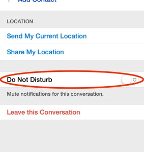 Messages do not disturb