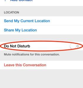 Messages do not disturb