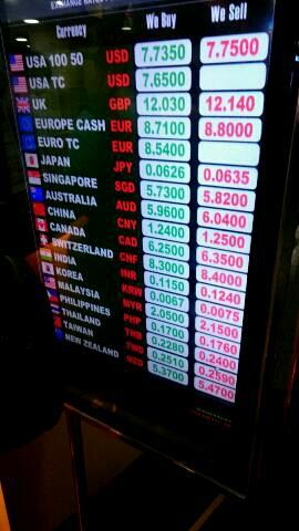 【速報:香港ドルレート】昨晩の重慶マンションで日本円両替し ...