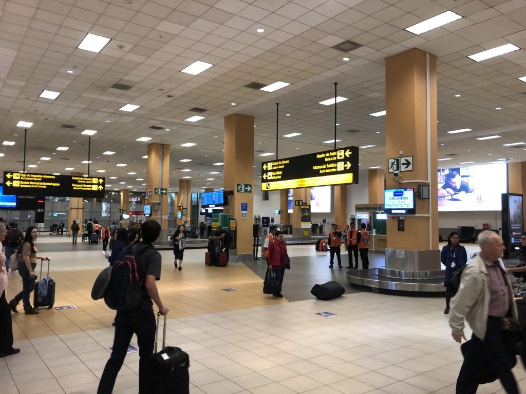 リマ ホルヘ・チャベス国際空港の受託荷物受取り場所