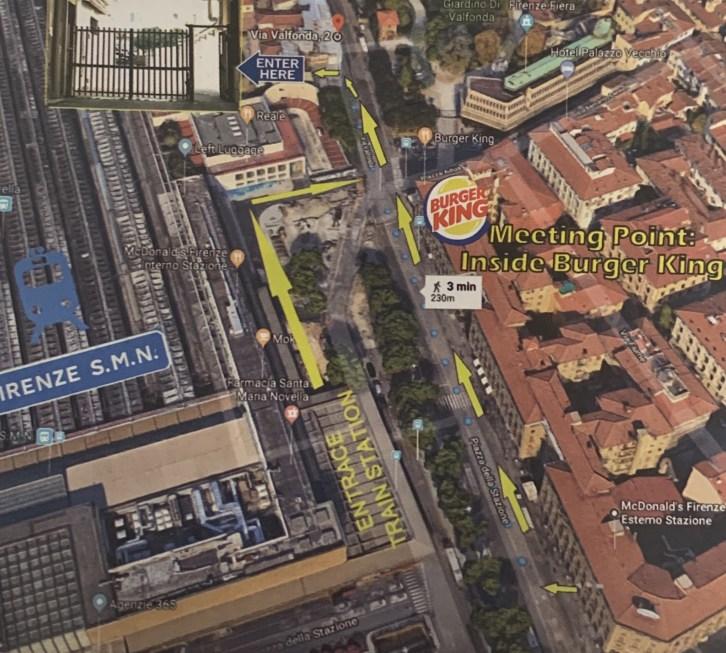 フィレンツェ・サンタ・マリア・ノヴェッラ駅からバス乗り場までのルート