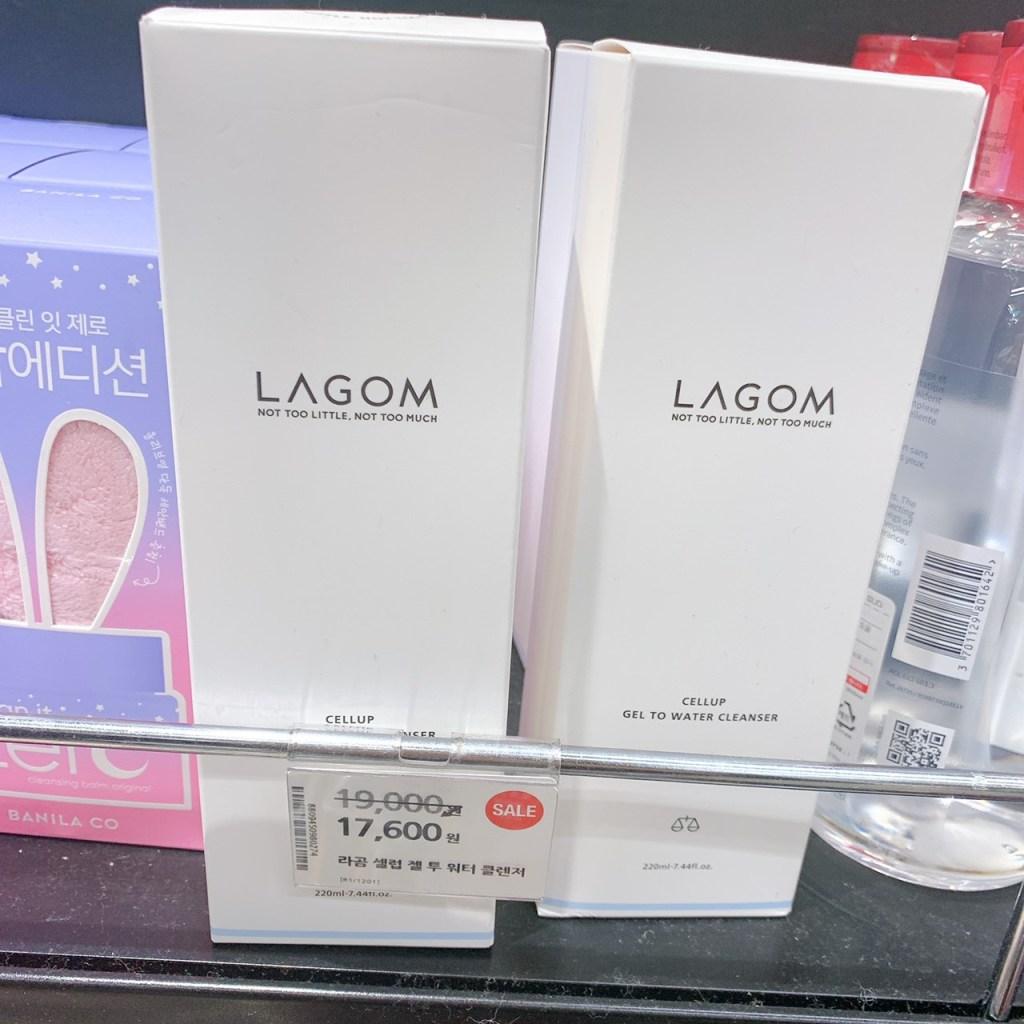 オリーブヤングで売られているLAGOMのクレンザー