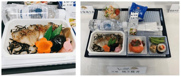 ANA機内食総選挙2019にエントリーした焼き鯖丼(北陸)