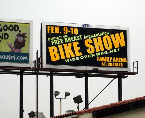 Win a Free Breast Augmentation billboard - St. Louis Missouri 2008