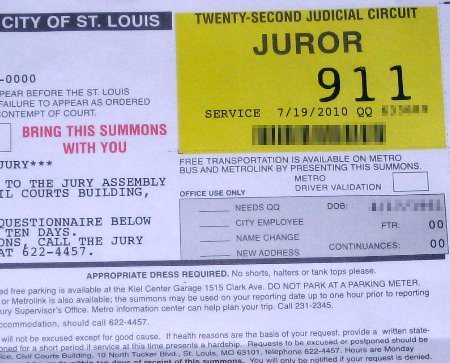 St louis jury duty