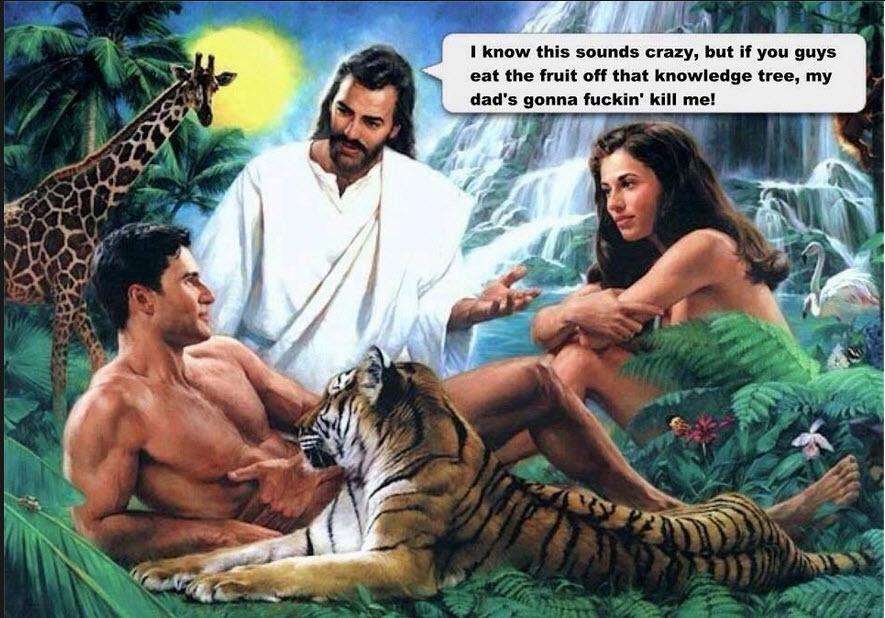 jesus garden of eden joke