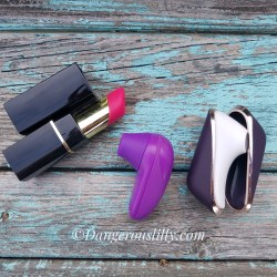 Showing size difference between Womanizer 2GO, Womanizer Starlet and Satisfyer Pro Travel