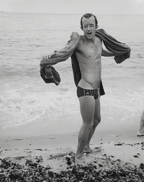 Keith Haring at the beach - 1984