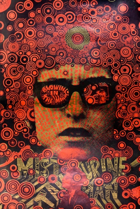 Bob Dylan by Martin Sharp (image courtesy Dangerous Minds)