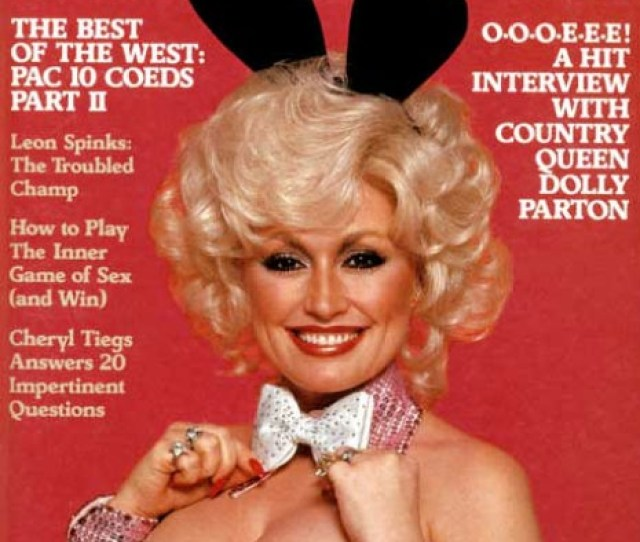 That Time In  When Dolly Parton Posed For Playboy With A Super