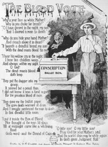 Adela Pankhurst opposed conscription