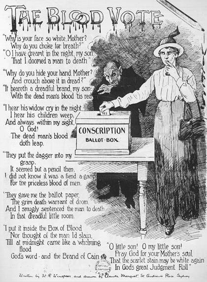 Adela Pankhurst opposed conscription