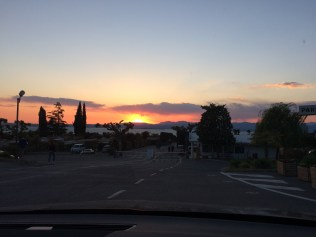 Sonnenuntergang am Campingplatz Lido