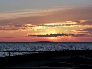 Sonnenuntergang am Ostseehaff