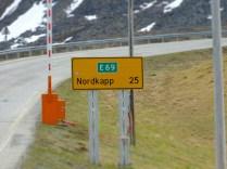 Straßenschild Nordkap
