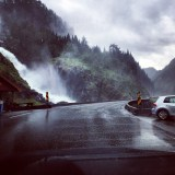 Straßenwasserfall