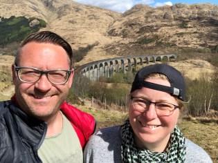 Glenfinnan Viadukt und zwei Grinsebacken