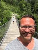 Hängebrücke Klausbachtal/ ich geh mal lieber wieder runter