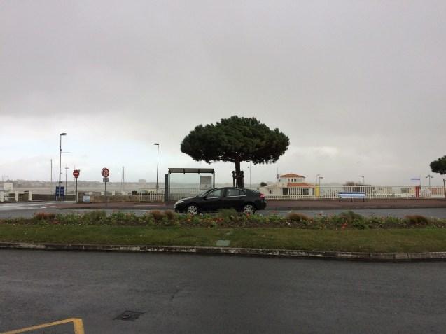 Regenschauer in Royan