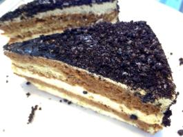 I think this is part of the Oreo cheesecake at The Cheesecake Factory. It's my favorite place to get cheesecake.