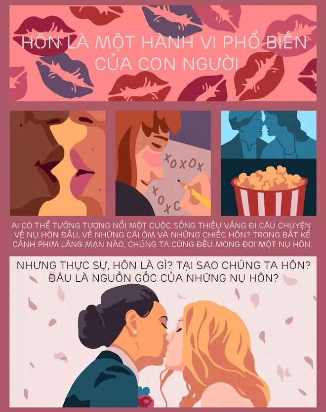 [Infographic] Nụ hôn bắt nguồn từ đâu? Tại sao chúng ta hôn nhau và khoa học phía sau mọi nụ hôn - Ảnh 1.