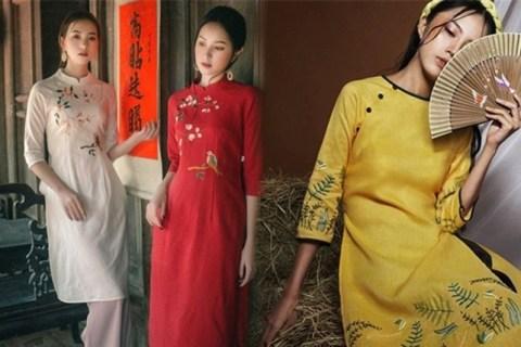 Những kiểu áo dài cách tân được yêu thích dịp tết Kỷ Hợi - Báo Phụ Nữ