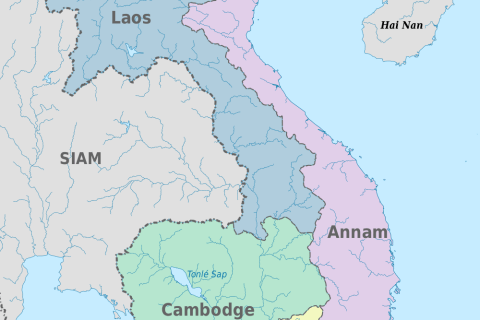 French Indochina (1900-1945) • Map • PopulationData.net