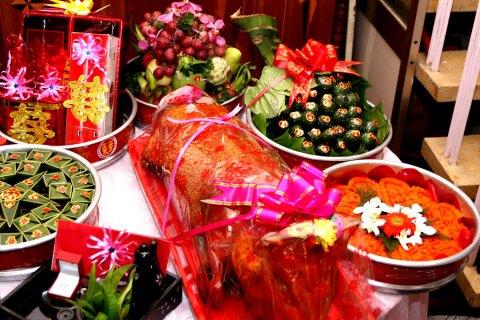 Sính lễ cưới trong đám cưới truyền thống của người Việt Nam. - webdamcuoi