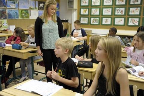 Học sinh Phần Lan thường bắt đầu giờ học trên lớp vào lúc 9h sáng. Ảnh: Riku Isohella.