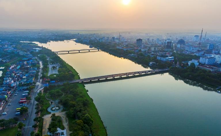 Sông Hương là trục cảnh quan đô thị