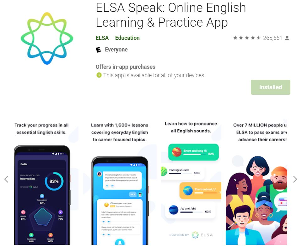 ứng dụng elsa speak
