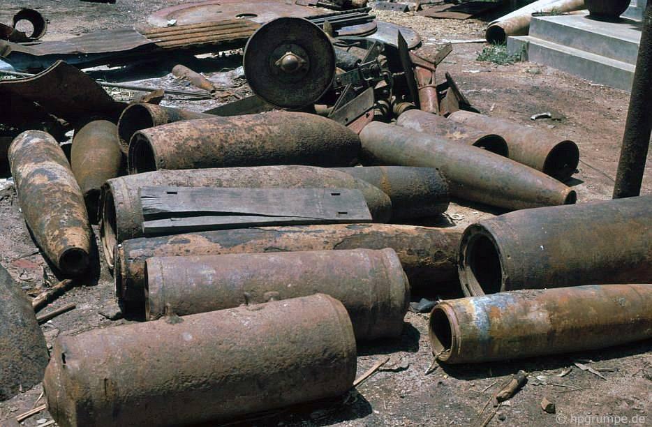 Bộ sưu tập sύng ngắn và tên lửa ở Đốc Miếu
