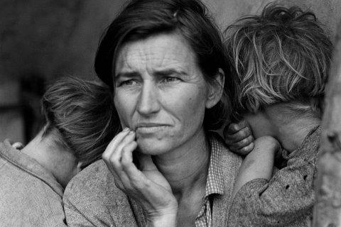 Bức ảnh nổi tiếng thời Đại suy thoái ở Mỹ có tên