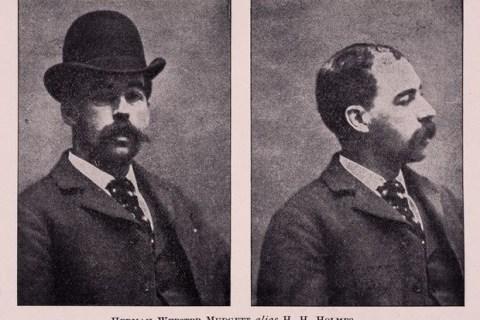 Chân dung kẻ giết người hàng loạt H.H.Holmes.
