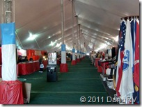 Inside Quartzsite Big Tent