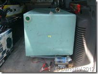 Used RV water tank and pump