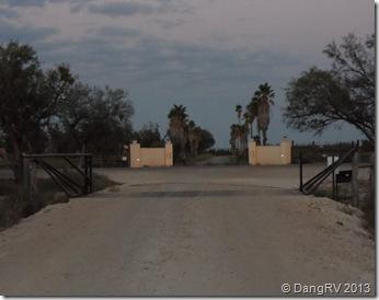 Sugarland gate on FM190