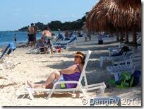 Lounging on the Nachi Cocum beach