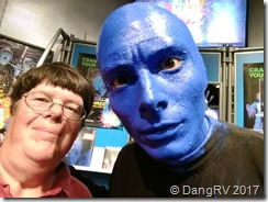 Hanging with Blue Man