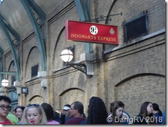 Platform 9 3/4 at the train station