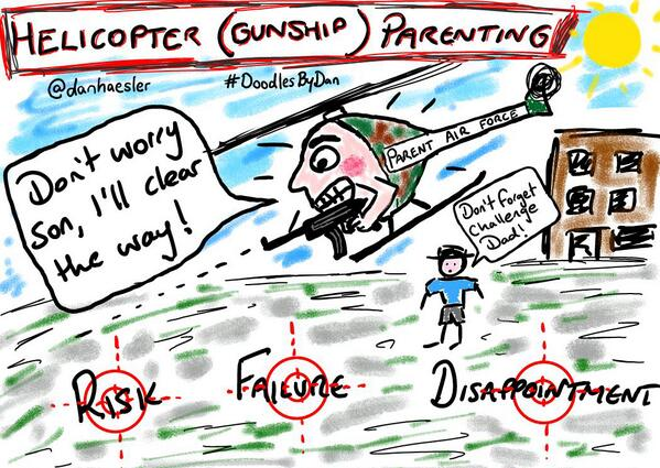 Helicopter Gunship Parenting