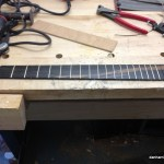 installing frets before gluing up fretboard