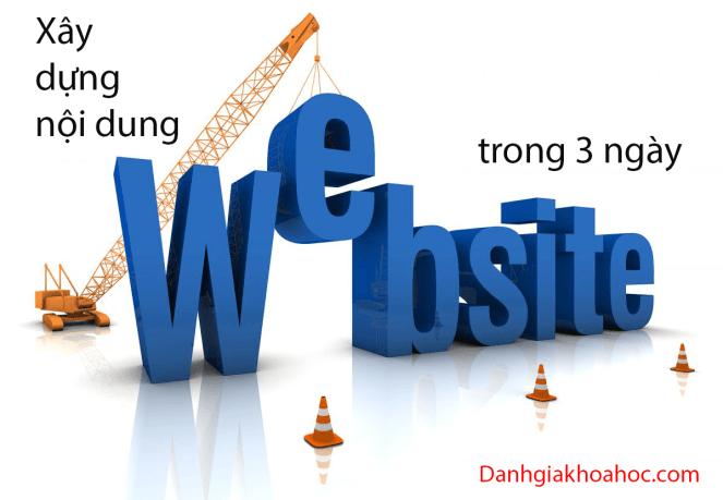 Đánh giá khóa học Xây dựng nội dung website trong 3 ngày