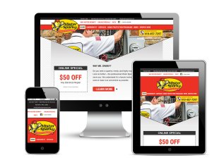 Web design and development support as part of the team at Icon Graphics for Mister Sparky, American's On-Time Electrician, in Aberdeen, Maryland. See it live!