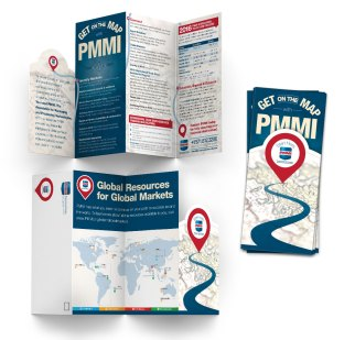Die-cut brochure design for PMMI.