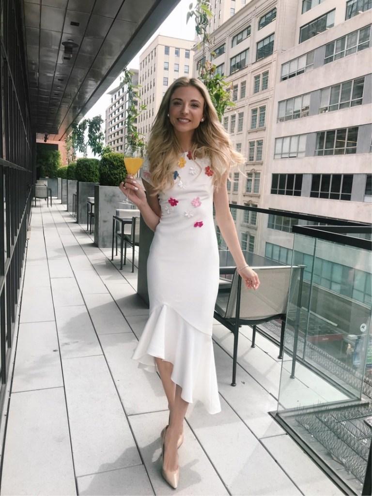 Dani Austin Bridal Shower white dress