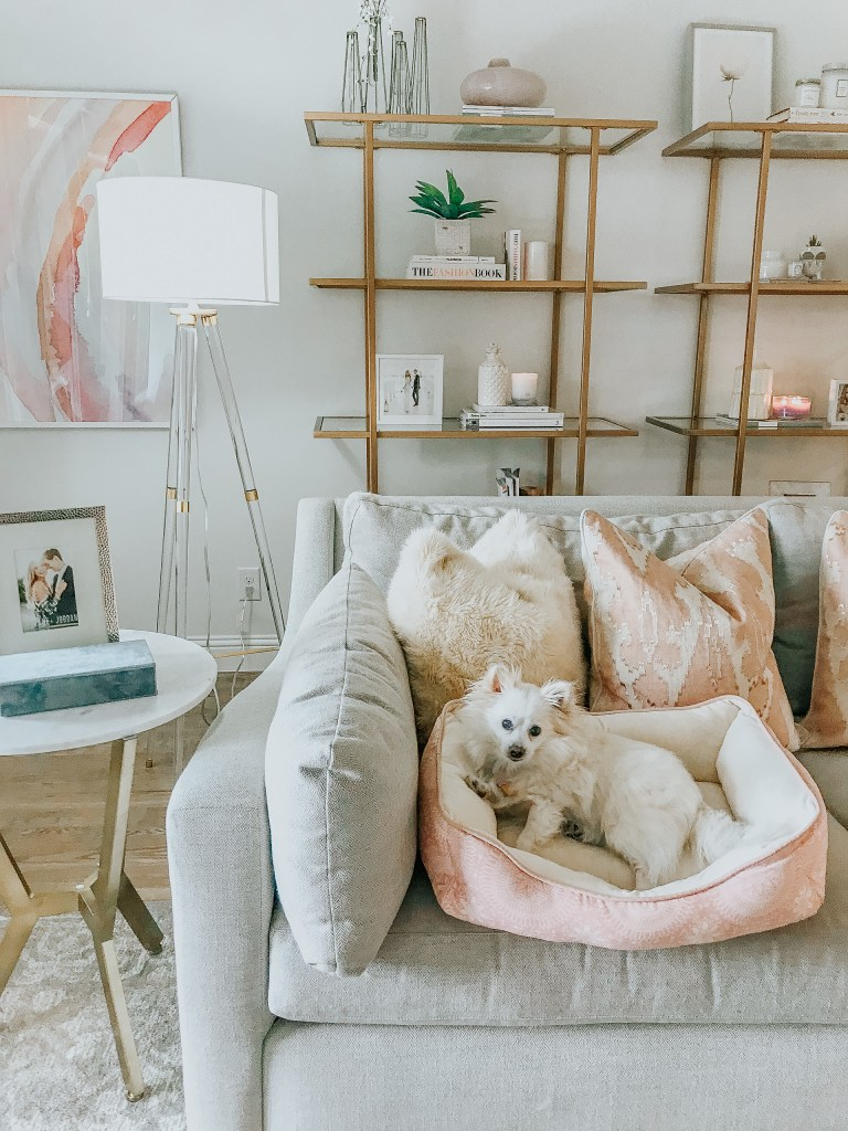 gray crate and barrel couch