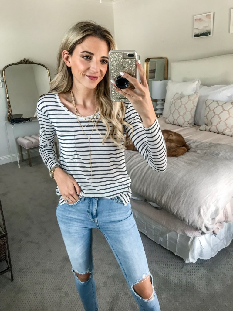 nordstrom sale bp stripe shirt