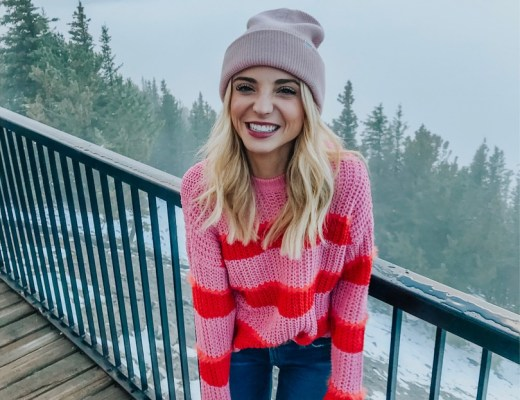 bershka red and pink sweater asos