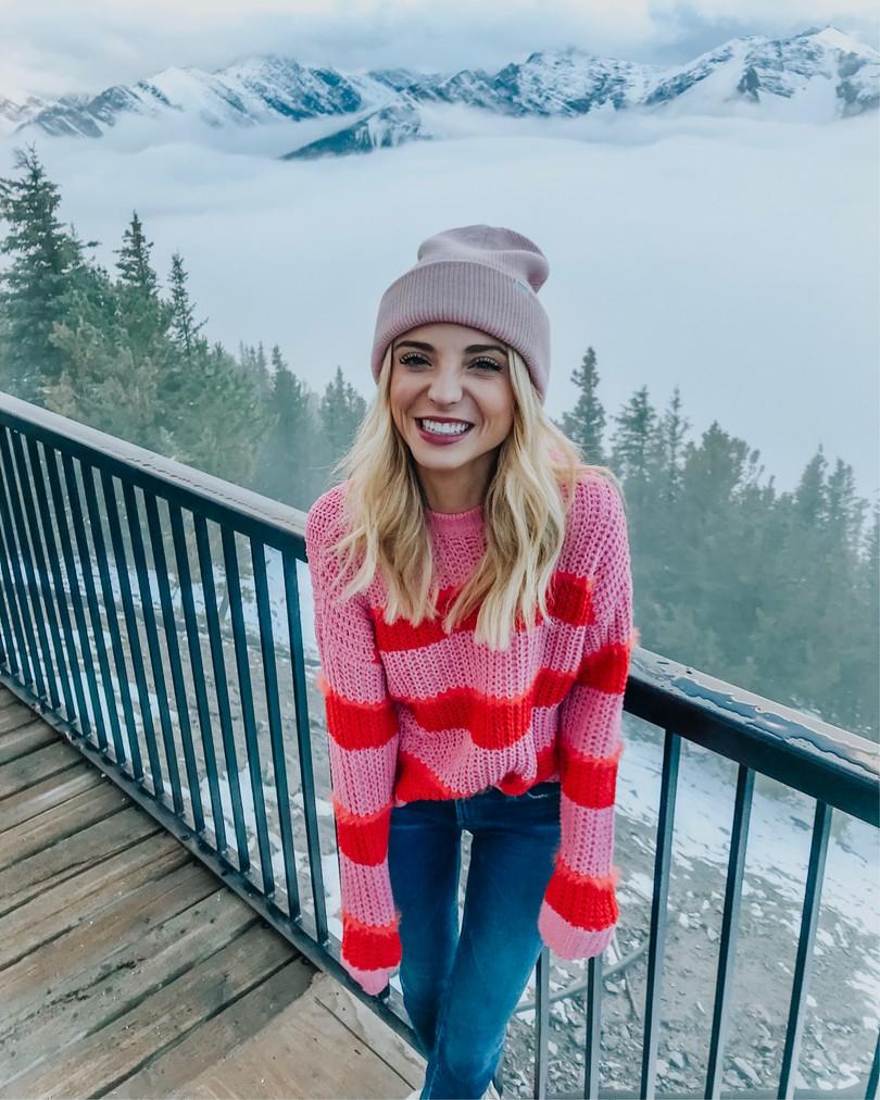 bershka red and pink sweater asos